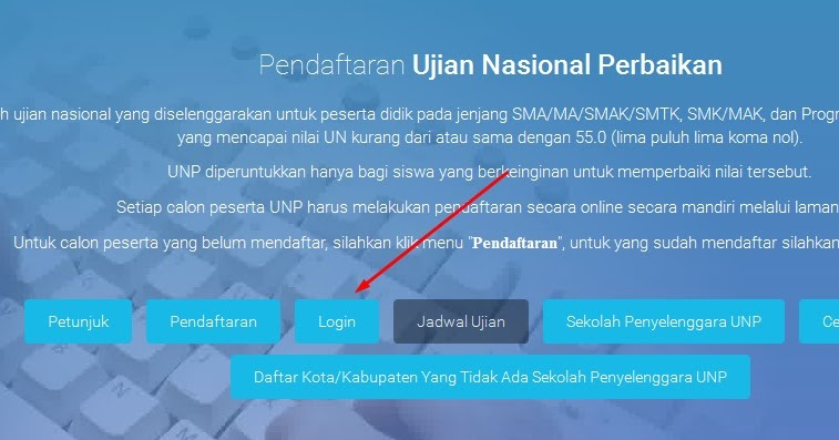 Cara login UNP 2016