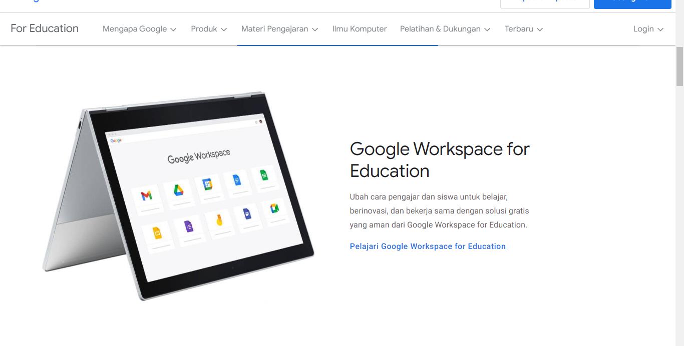 Kegiatan Belajar Dan Mengajar Dengan Google Workspace for Education